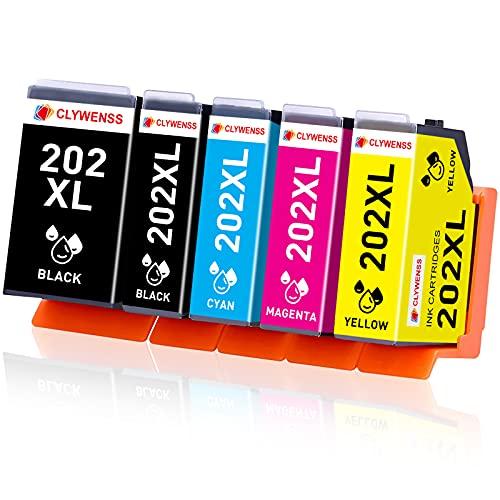Clywenss XP-6105 Cartucce di ricambio per stampanti Epson 202 XL, per Epson Expression Premium XP-6000 XP-6005 XP-6100 XP-6105 (1 nero/1 nero fotografico/1 ciano/1 magenta/1 giallo)
