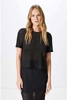 CROPPED STRIPES-BLACK