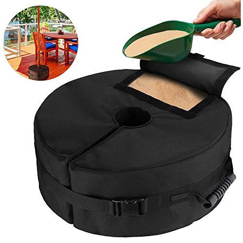Umbrella Base Weight Bag,Round Detachable Garden Patio Parasol Base Sand Bag Outdoor Portable Parasol Stand Base for Any Outdoor Patio Umbrella Stand
