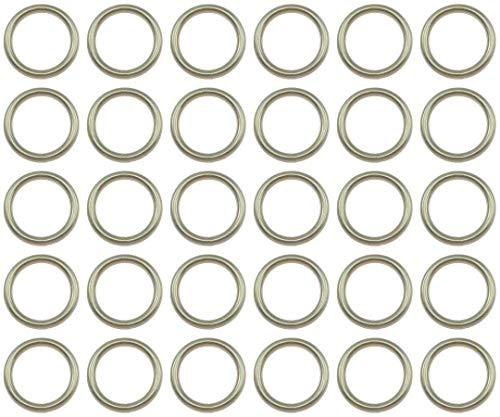 Anillos de metal soldados - 45 mm - Acero niquelado - Embalaje de 1 a 50 piezas - (3 piezas)