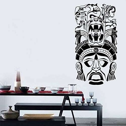 Zhuzhuwen Muurstickers Cherry Blossom Guns, Oude Ceremonie Masker Maya Aztec Etnische De,Kleuterschool kamer Decoratie muurschildering Vinyl