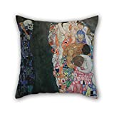 Cushion Cases Of Oil Painting Gustav Klimt - Death And Life 16 X 16 Inches / 40 By 40 Cm,best Fit For Pub,him,bar Seat,christmas,dining Room,lounge Twice Sides