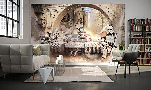 Komar 027-DVD4 Vlies Fototapete Star Wars Tanktrooper, Größe 400 x 250 cm (Breite x Höhe), 4 Bahnen, inklusive Kleister, Bunt