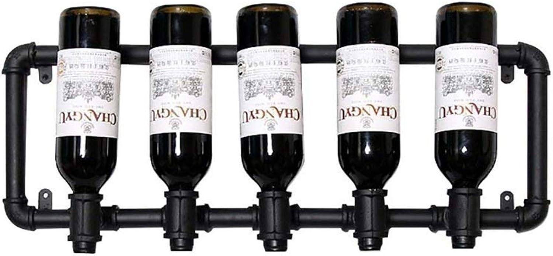 nuevo estilo Montado en la Parojo Estante de Vino Vino Vino Metal Colgante Estante de Vino Decoración Estante de Botella de Vino Inverdeido Vino Rack Bar  Envío rápido y el mejor servicio