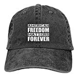 gymini American Freedom Matters Forever Gorra de béisbol lavada ajustable de algodón unisex Deportes Papá Sombrero Trucker Cowboy Cap