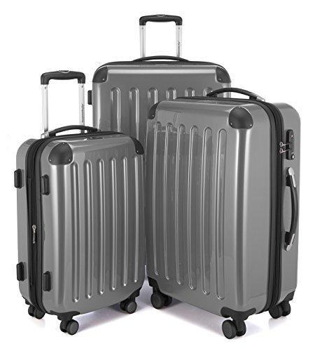 Hauptstandtkoffer Set di valigie, 75 cm, 235 L, Argento