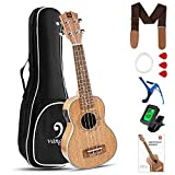 Vangoa Electric Soprano Ukulele Starter Kit 21 Inch Electric Ukulele Mahogany for Beginners with Study Guide, Padded Bag, Starter Accessories