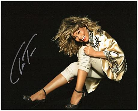 Photo Tina Turner Signed online Jacksonville Mall shop 8 x Autographed 10