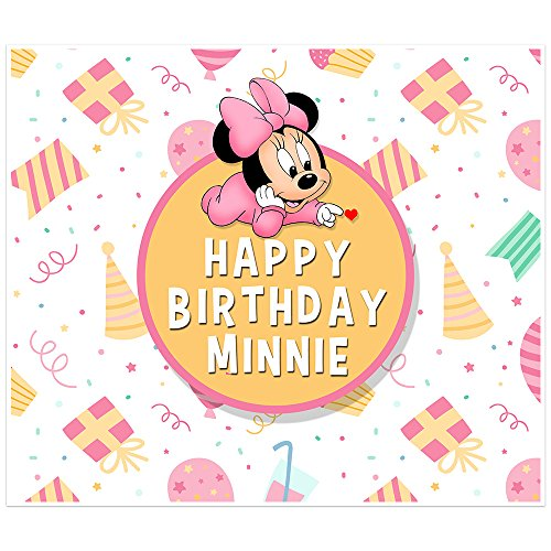 Minnie Mouse Birthday Banner Personalized Party Table Backdrop Decoration