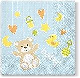 20Servilletas Baby juguete color azul claro/nacimiento/bautizo/Niños/niño 33x 33cm