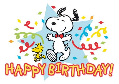 Postkarte A6 +++ SNOOPY/PEANUTS von modern times +++ HAPPY BIRTHDAY - SNOOPY AND WOODSTOCK +++ CLOSE UP © UNITED FEATURE SYNDICATE, INC