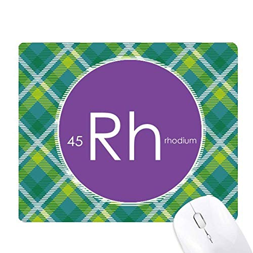 la chimie des éléments tableau des métaux de transition, rhodium rh réseaux verte grille pixel tapis de souris