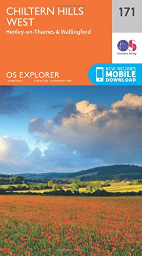 Price comparison product image OS Explorer Map (171) Chiltern Hills West,  Henley-on-Thames and Wallingford