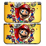 MARIO Style New Nintendo 3DS New3DS N3DS Skin Cover Sticker Vinyl Decal + Screen Protectors