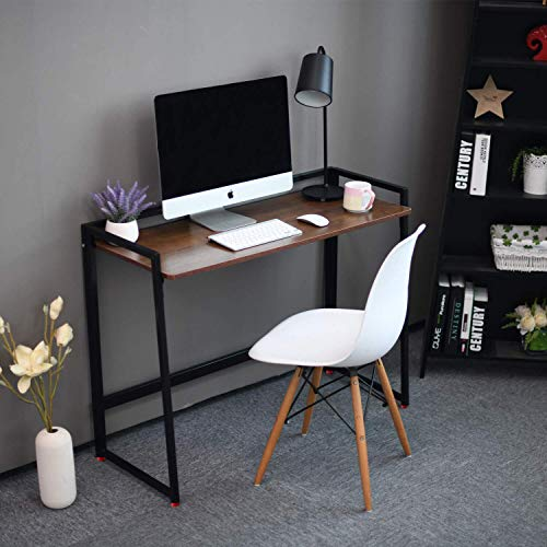 Livzing MDF Study Desk (Lacquered;Matte Finish, Brown)