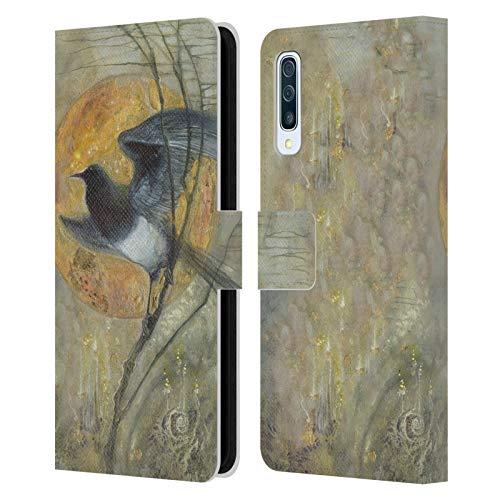 Officiële Stephanie Law Ekster Vreemde dromen Lederen Book Portemonnee Cover Compatibel voor Samsung Galaxy A50s (2019)