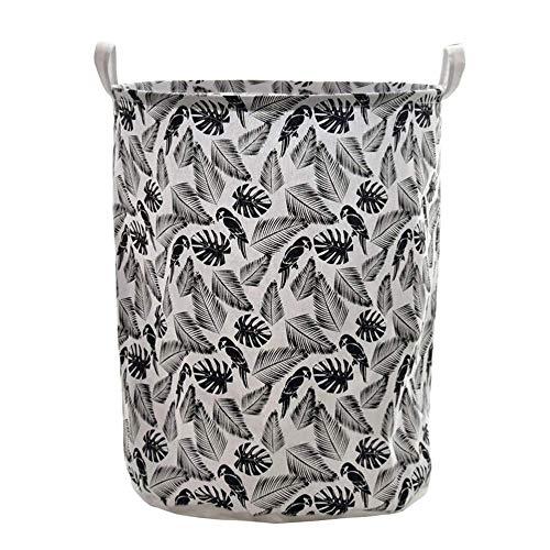 DAGUAI Cestino della Lavanderia, Cestino di archiviazione 1pc Pieghevole Impermeabile Black Laundry Hamper Storage Collection Collection Basket per Bagno Dimensioni della casa: 40 x 40 x 50 cm