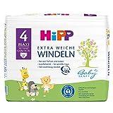 HiPP Babysanft Windeln für Kleinkinder, Geeignet von 8-14 kg, Gr. 4 (74-92), 4 Tragepack, 32 Stück