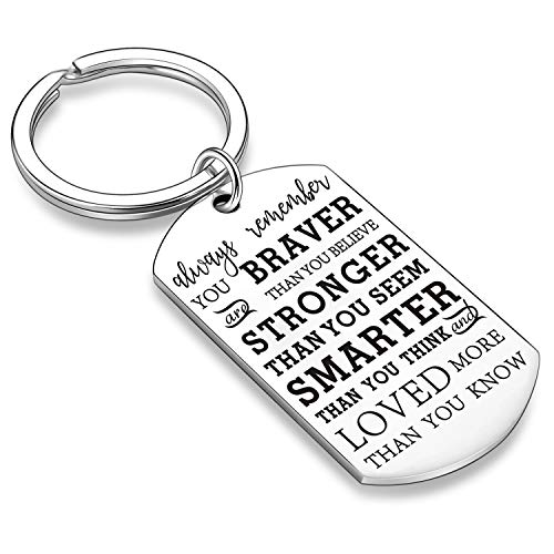 Inspirational Gifts for Son Daughter Inspirational Keychains Encouragement Gifts for Teens Inspirational Key Chains for Teens (Style A)