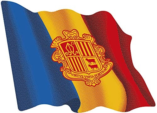 Artimagen sticker vlag golven Andorra medium 80 x 60 mm