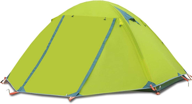 JESSIEKERVIN YY3 Bergsteigen-Zelt im Freien kampierendes Zubehr kann 3-4 Leute Doppel Aluminiumstange im Freien Wind und Regen Sturm wasserdichtes Zelt für Athleten im Freien unterbringen