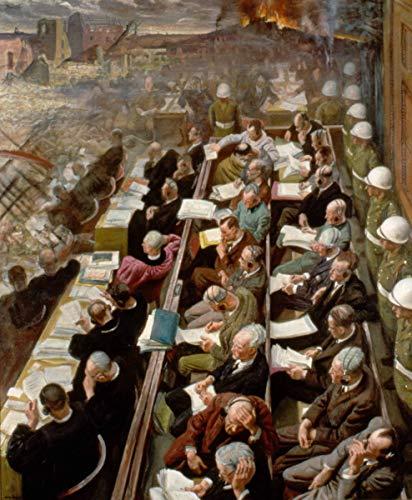 Laura Knight ジクレー キャンバスに印刷 -有名な絵画 美術品 ポスター-再生 壁の装飾(ニュルンベルク裁判) #XFB
