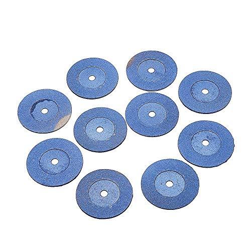 Z-LIANG Hojas de sierra circulares, 10Pcs 40mm diamante Muela herramientas de corte de metal pulido de disco en forma for amoladora angular eléctricas Herramientas