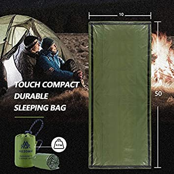 Hurricanes and Other disasters Mezonn Emergency Sleeping Bag Survival Bivy Sack Use as Emergency Blanket Lightweight Survival Gear for Outdoor Hiking Camping Keep Warm After Earthquakes