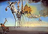 The Temptation of St Anthony Salvador Dali - Film Movie Poster - Best Print Art Reproduction Quality Wall Decoration Gift - A4Canvas (12/8 inch) - (31/20 cm) - Stretched, Ready to Hang