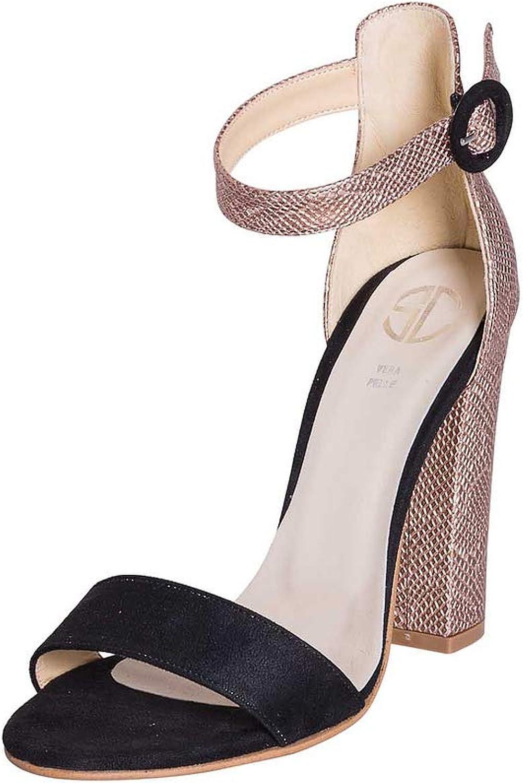 Sandalen, hohe hohe hohe Größe, 36 Schachtel, aus Camouflage, Schwarz und Regentropfen, mit Karneol und Kinnriemen aus der Kaffe B07PGJ6FL8 050f91