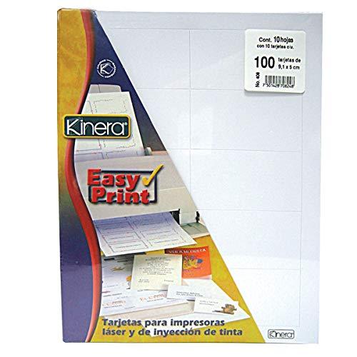 AZOR 302.408 Easy print, Hojas pre-cortadas para diseñar tarjetas de presentación y acceso a...