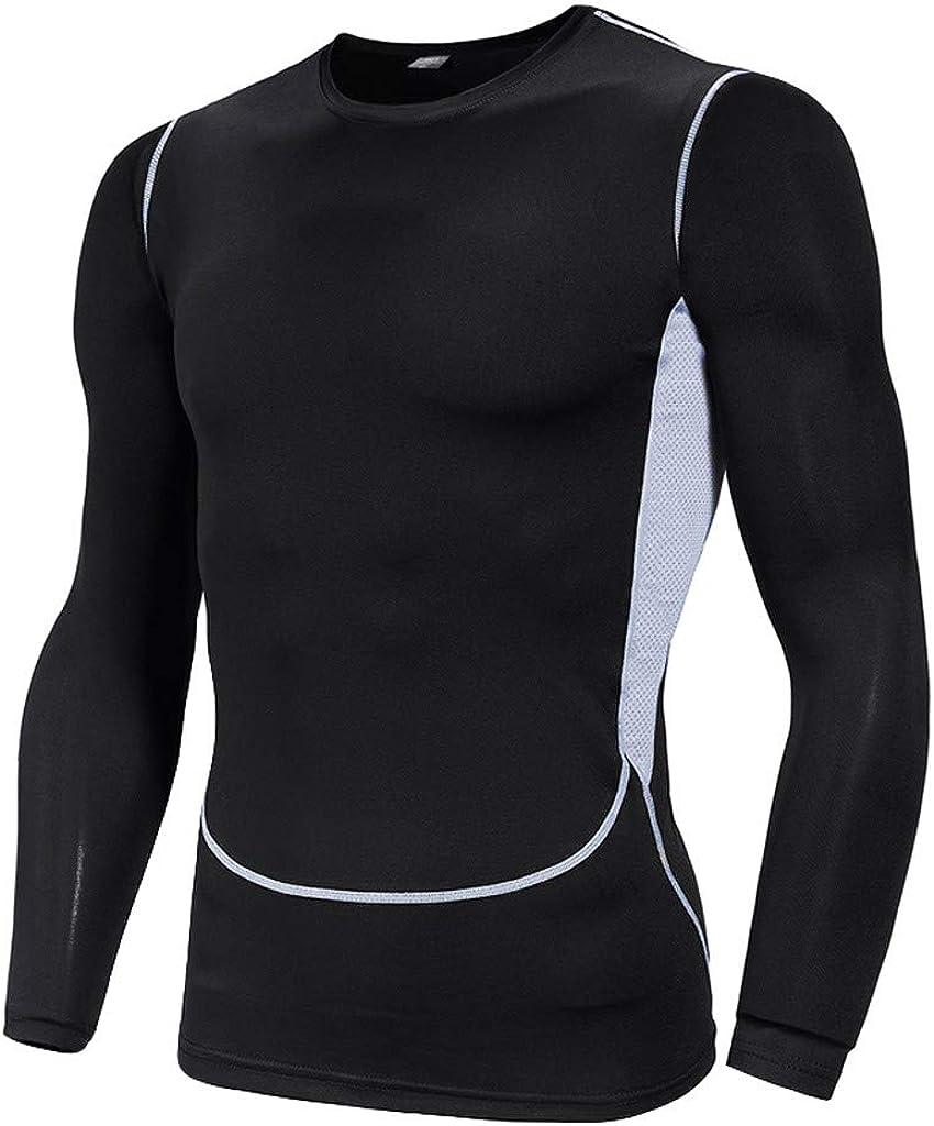 MODOQO Men's Casual Fitness Fast Drying Elastic Short Sleeve Short Pants Sports Suit
