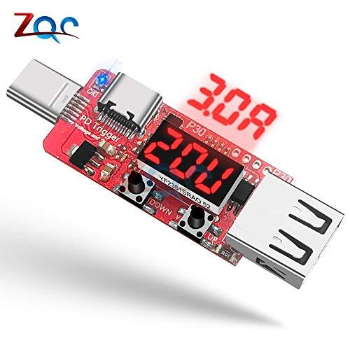 PD 3.0 2.0 QC Schnellladegerät Trigger Digitaler Strom Spannungsvoltmeter Amperemeter Mobiles Netzteil Typ-c USB-Testdetektor