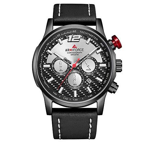 Relojes para Hombre Cronógrafo de Cuarzo Resistente al Agua - 3ATM Water-Repelling-A