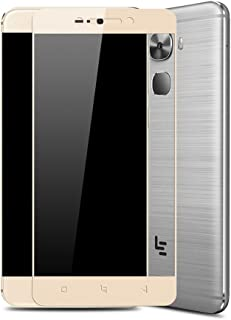 Zshion for Le Pro 3 Screen Protector,Full Coverage Anti-Fingerprint Bubble-Free Tempered Glass Screen Protector for LeEco Le Pro 3 Crystal Clear (Gold)
