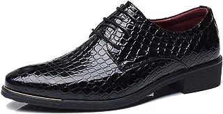 [ジョイジョイ] ドレスシューズ メンズ レースアップ 革靴 ビジネス クロコ ヘビ柄 カジュアルシューズ クッション 歩きやすい ビッグ 大きいサイズ 紐靴 カジュアル 黒 ブルー レッド 結婚式 オシャレ 紳士靴