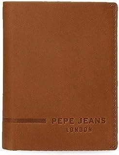 Pepe Jeans Ander Cartera Vertical Marrón 8,5x10,5x1 cms Piel
