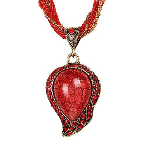 Offres Black Friday 2016 valentoria® Style rétro Bijoux faits main en forme de coeur en cristal Collier chaîne de charme Collier Meilleur amis Cadeaux pour les femmes