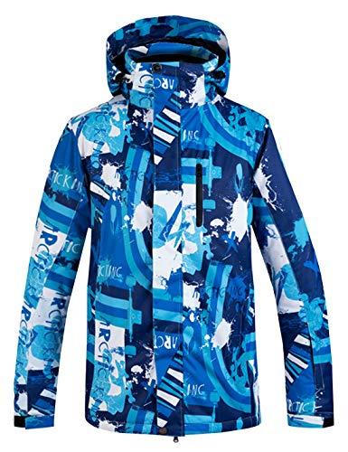 APTRO Skijacke Herren warm Jacke gefüttert Winter Jacke Regenjacke Blau TY01 S