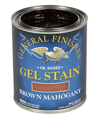 General Finishes Oil Base Gel Stain, 1 Quart, Brown Mahogany