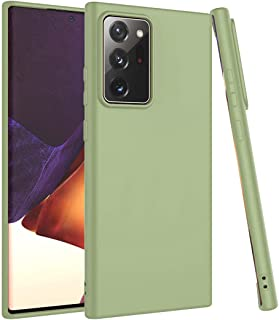 Matte Plastic Flexible, Mobile phone protection cover, Smooth, Soft TPU Case for Samsung Galaxy Note 20 Ultra (Army Green)