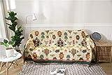 Manta Protectora para sofá, Morbuy Manta de sofá Cálida y Gruesa Manta de Hilo de algodón Suave Sofá A Prueba De Polvo Manta De Liviana for Cama o sofá (90 * 210 cm,Amarillo)