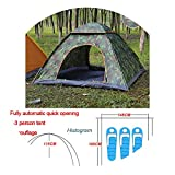 Automatic Pop Up Outdoor Family Camping Tent 1 2 3 4 Person Multiple Models Easy Open Camp Tents Ultralight Instant Shad,Camouflage 2-3 Man