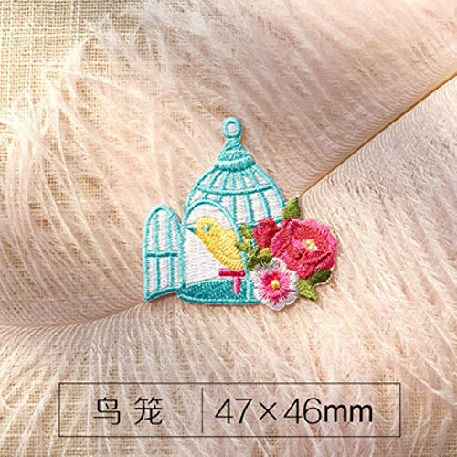 LLine 26 Engelse letters Cake Rose Flower Patches voor trouwjurk opstrijkbare stoffen applique voor kleding DIY accessoire patch, vogel