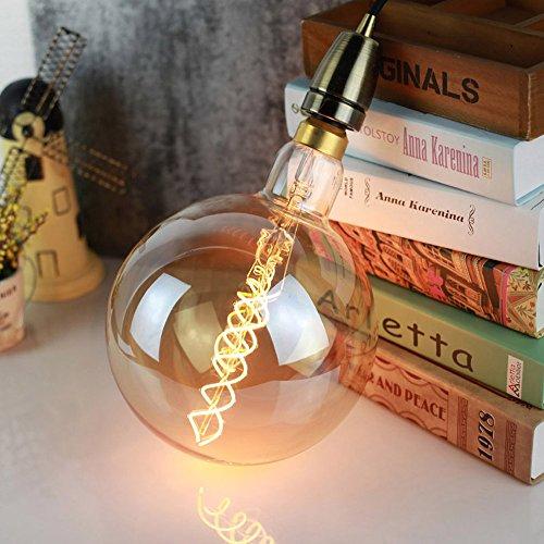 G200 - Bombilla Edison de tamaño grande, 6 W, intensidad regulable, LED, 220/240 V, casquillo E27, color dorado