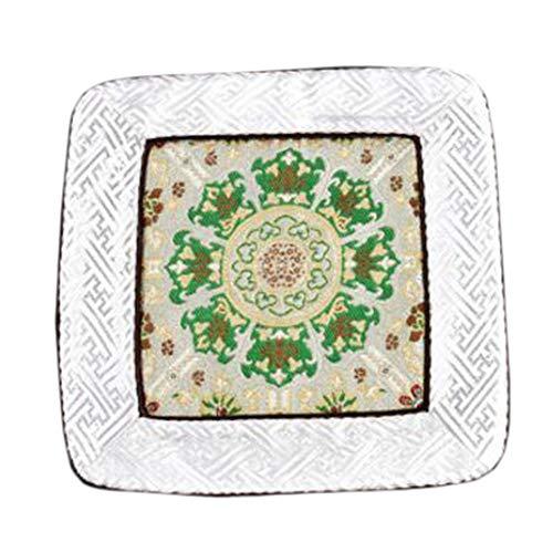 Wukong Paradise Damask Broderie Coaster Tapis De Sol Tapis De Thé Chemin De Table Accessoires De Thé-A03