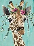 Giraffe 5D Diamond Painting Kit for Adults, DIY Round Full Drill Diamond Art Kits, Crystal Rhinestone Cross Stitch Diamond Dotz Painting Jewel Art Craft for Home Wall Decor 11.8x15.7 inch