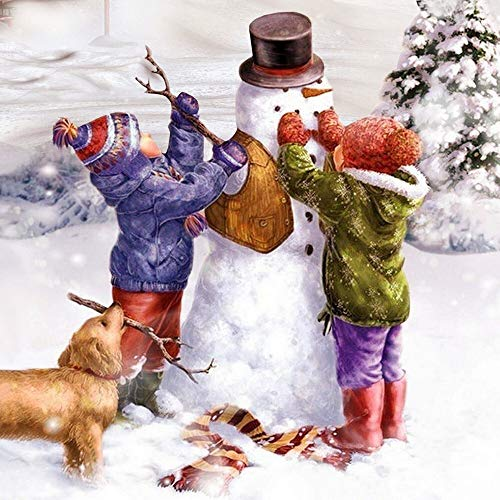 20 Servietten Winter for us | Schneemann | Kinder | Tiere | Weihnachten 33x33cm