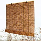 M-MIAO Bamboo CurtainsPatio Shades Roll Up OutdoorWindow ShadesNatural Reed,Retro Style,Healthy and Tasteless,Suitable for Indoor/Outdoor
