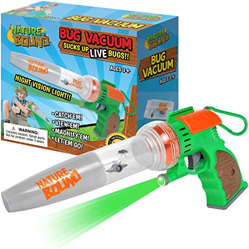 Nature Bound Bug Catcher Toy, Eco-Friendly Bug Vacuum, Catch and Release Indoor/Outdoor Play, Ages 3 to 12